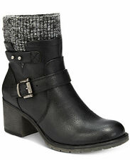 Bare Traps Dover Womens Shoes Black Leather Sweater Boots Booties 8.5 M NIB NEW