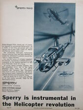 7/1968 PUB SPERRY RAND GYROSCOPE AERO SYSTEMS HELICOPTER INSTRUMENT ORIGINAL AD