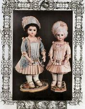 Antique French Bebe Bru Doll Wardrobe Dress Bonnet Pattern Rare Pat Allen German