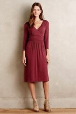 "NWT $138.00 Anthropologie Galena Midi Dress by Maeve sz. X-Small ""Wine"""