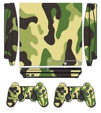 Camouflage 271 Skin Sticker Cover PS3 PlayStation 3 Slim and 2 controller skins