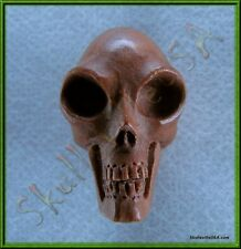 """Alien"" Sabo Wood Skull Bead - Paracord - Leather - Jewelry - Crafts - US Seller"