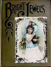 BRIGHT JEWELS ~ Antique Victorian Children's Story Book 35+Color Plates