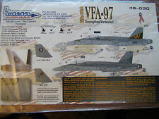 1/48 Two Bobs F/A-18 VFA-97 Thoroughbred Warhawks!! Decal OOP fits Hobby Boss