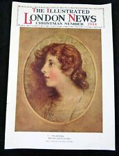 Magazine Cover The ILLUSTRATED LONDON NEWS Christmas Number 1944 Cameo Girl