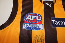 HAWTHORN - GRAND FINAL MATCH JERSEY 2012 - SIGNED LUKE HODGE - COMES WITH COA