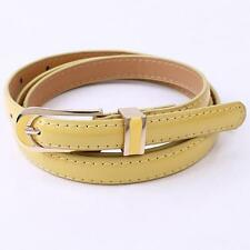 Fashion Women's Candy Color Casual Thin Leisure Leather Waist Belt Alloy Buckle