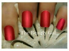 OPI~RED SATIN MATTE® Manicure~Danke-Shiny Red & Matte Top Coat Lot Nail Polish