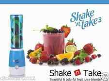 Shake N Take 3 Mini Sports Bottle Electric Blender With Extra Bottle-Blue