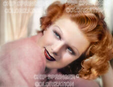 JEAN HARLOW in a Pink Sweater (#1)   Beautiful 8x10 COLOR PHOTO by CHIP SPRINGER