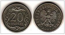 Polen Poland  coin 20 groszy grosz 2007 UNC  - Mint condition