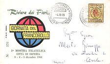 FDC Rodia - Italia - 1966 - Giornata del francobollo - NVG - annullo Imperia