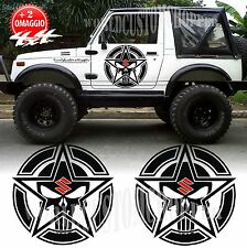 2 ADESIVI STELLA PUNISHER DECAL GRAPHICS FUORISTRADA SUZUKI 4X4 SAMURAI SANTANA