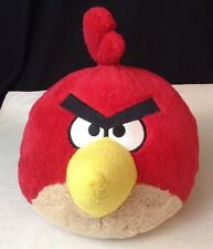 "Angry Birds RED Bird Stuffed Plush 12"" x 9"" Soft Commonwealth Toys 2010"