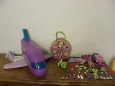 Polly Pocket Preowned Used Jumbo Jet with accessories and 2 dolls