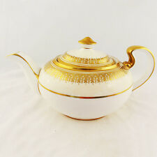 "CHAMPAGNE by Aynsley Tea Pot 5"" tall NEW NEVER USED Bone China England 24kt gold"