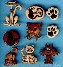 ALLEY CAT Kitten Fish Paws Catnip Pets Animal Novelty Dress It Up Craft Buttons