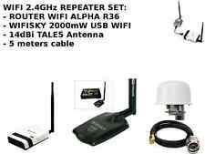 Antenna 2.4Ghz Omni Wi-fi Segnale Ricevitore Condivisione cavo con WIFISKY+ALFA