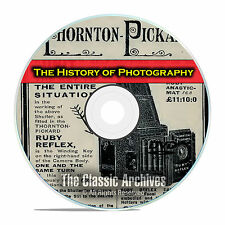 History of Photography, 214 Antique How To Books, Camera Catalogs, PDF DVD E68