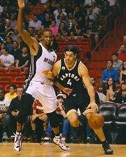 LUIS SCOLA signed TORONTO RAPTORS 8X10 PHOTO COA B