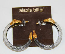 ALEXIS BITTAR ALEXANDRIA SNAKE LUCITE 18K PLATED EARRINGS    SOLD OUT!!!