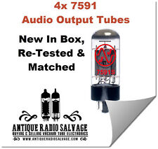 (4x) NEW 7591 7591s JJ / Tesla Audio Output Tubes - VERIFIED MATCHED QUAD
