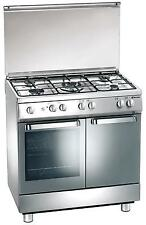 Gas cooker 80x50 cm, 5 burners, gas oven, gas cylinder - Tecnogas Arkè D884XS