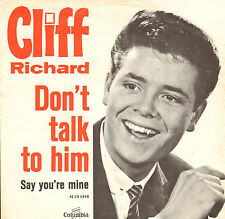 CLIFF RICHARD & THE S HADOWS - Don't Talk To Him (1963 SINGLE DUTCH PS)