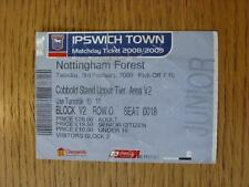 03/02/2009 Ticket: Ipswich Town v Nottingham Forest  (folded, creased)