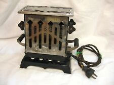 Antique Art Deco 2 Sided Toaster Works