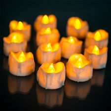Durable Yellow Flicker Electric Candles Flameless Tea Lights Wedding Decoration