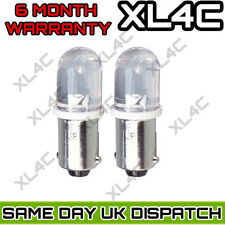 2x White Wide-Angle LED [233,T4W,BA9S] 12v Side Light/Interior Bulbs