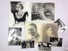 LOT OF 10 RARE MARY PICKFORD 1929, 1933 and Douglas Fairbanks PHOTOS PICTURES