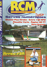 RCM N°286 PLAN : ARROW F3A / SHUTTLE PLUS HIROBO / EXTRA 140 NPM /ALOUETTE VARIO