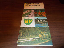 1969 BP North and South Carolina Vintage Road Map