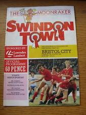 18/08/1987 Swindon Town v Bristol City [Football League Cup] (Creased). Item In