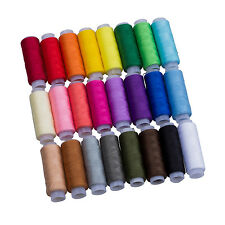24 Assorted Colors Polyester Sewing Thread-Pack of 24 UK ED