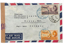 B21 1948 EGYPT AIR *Blue* Cairo Cancels Censored Germany (British Occupied Zone)