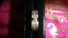 18ct White & Yellow Gold Cubic Zirconia Cuff Ring Size L1/2  3G