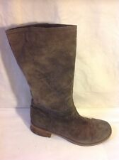 Clarks Khaki Mid Calf Suede Boots Size 6.5