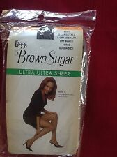 Vintage Leggs Brown Sugar Pantyhose x-lrge off black