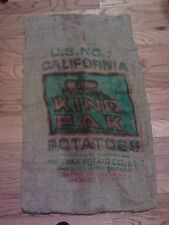ECONOMY Burlap sack bag, MINOR defects, utility bags, art, tool sack, sandbag!