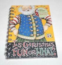 """Mary Engelbreit """"Is Christmas Fun or What?"""" Wire Bound Journal 80 Sheets Sealed"""