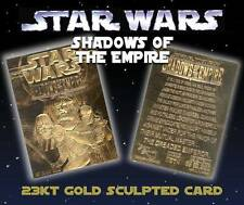 Star Wars SHADOWS OF THE EMPIRE 23KT Gold Card Sculpted Limited Edition #/10,000