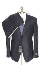 New VERSACE 1969 Abbigliamento Sportivo Blue Striped Wool Suit 50 7R 40 40R NWT!