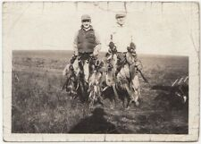 LOTS DEAD DUCKS HUNTER SHOWING OFF SHOTGUN VEST OLD/VINTAGE PHOTO-SNAPSHOT-B1804