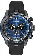 BRAND NEW CITIZEN ECO-DRIVE ECOSPHERE CHRONO BLUE DIAL RUBBER STRAP CA4155-12L