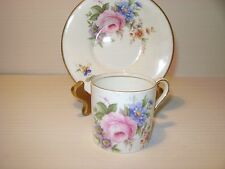 AYNSLEY DEMITASSE PINK ROSE CUP &SAUCER BONE CHINA ENGLAND