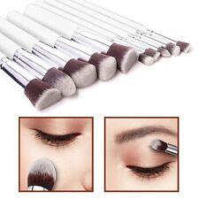 10pcs Kabuki Style Make Up Brush Set Face Powder Foundation Blusher - Style 3