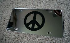 SINGLE PEACE SIGN MIRROR LICENSE PLATE CAR TAG WAR LOVE
